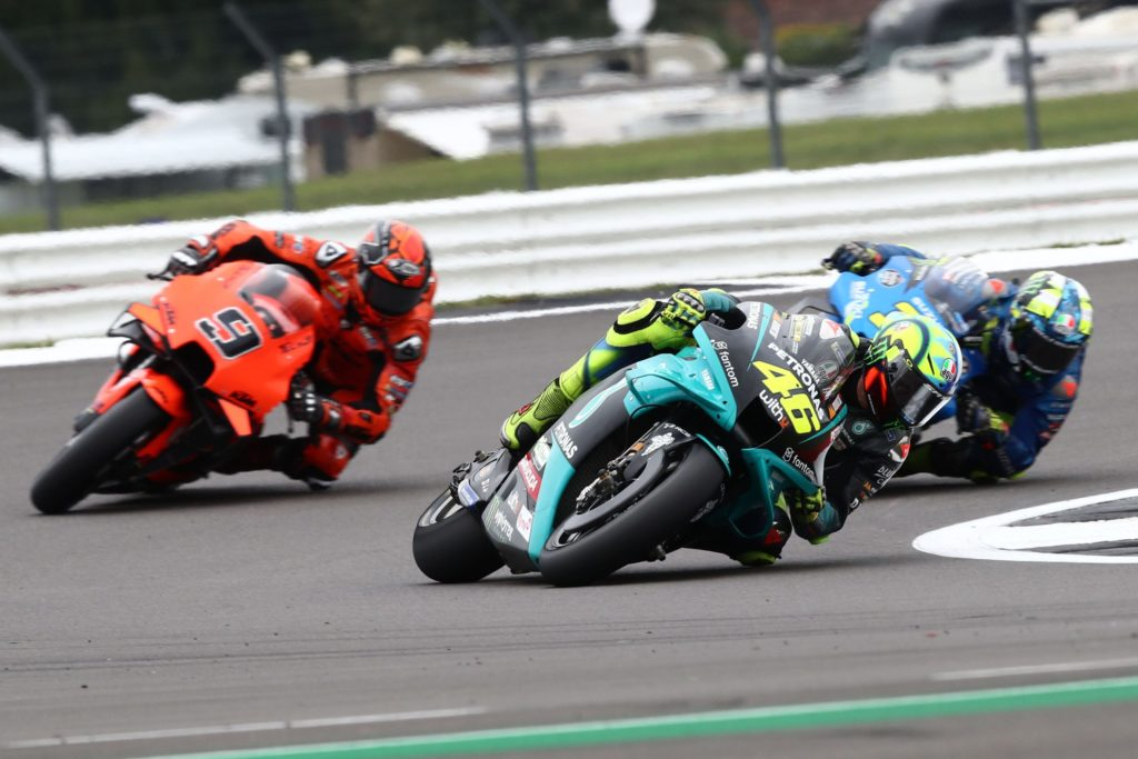 Strong start to first BritishGP in two years for Rossi