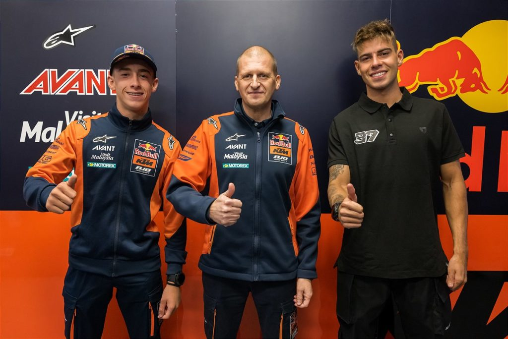 Renewed Moto2 roster for KTM GP Academy and Red Bull KTM Ajo in 2022