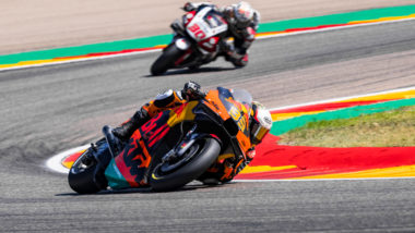 Hot work for Binder with top seven MotoGP™ finish in Aragon