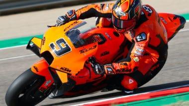 Danilo Petrucci, Aragon MotoGP, 11 September 2021 (image courtesy Tech3 KTM Factory Racing)