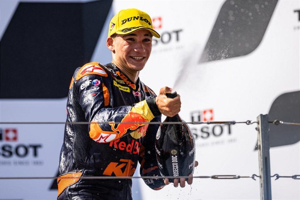 Red Bull KTM Tech3 double Moto3™ podium joy as Red Bull KTM Ajo go 1-2 in Moto2™
