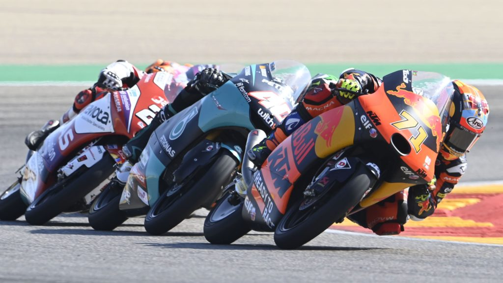 Double delight for Red Bull KTM Tech3 with Öncü and Sasaki on the podium in Aragón