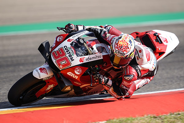 Taka in the top 10 on the first day in Aragon